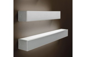 Aplique 200 mm pared acero inoxidable.